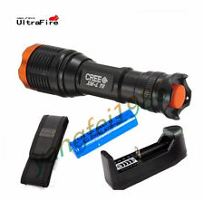 UltraFire 4000Lm CREE XM-L T6 LED Flashlight Torch+18650 4000mAh Battery Charger