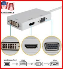 3 in1 Thunderbolt Mini Display Port DP to HDMI DVI VGA Adapter Cable For Apple