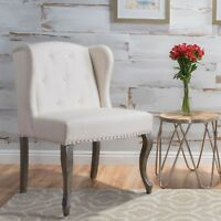 Asheville Contemporary Wingback Fabric Chair with Nailhead Accents