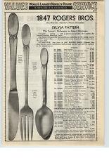 1940 PAPER AD 1847 Rogers Bros Silverware Sylvia Marquise Design