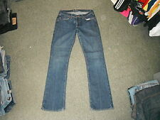 "Old Navy The Flirt Jeans Size 8 Leg 32"" Faded Dark Blue Ladies Jeans"