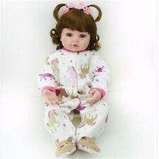 """22""""Handmade Vinyl Reborn Toddler Dolls Sweet Girl Doll + Clothes Lifelike"""