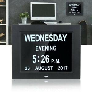 Große 7 Zoll Digitale Elektronische Kalender Tag Uhr LCD Senioren Demenz Alarm