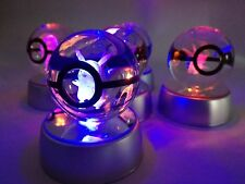 Pokemon Ball LED Lamp 3D Glowing Pikachu Pokeball Crystal Ball Toy Gift for Kids