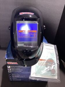 Westward 33N557 Auto Darkening Welding Helmet, Shade  6-9/9-13, Black