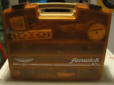 Offer is a Reel Winner! Vtg Fenwick 40 Tackle Box w/ Lures & More!