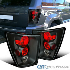 For Jeep 05-06 Grand Cherokee Black Tail Lights Brake Rear Parking Lamps Pair