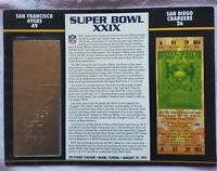 SUPER BOWL 29 SAN FRANCISCO 49ERS / CHARGERS Willabee Ward 22KT GOLD TICKET XXIX
