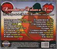 CD 60's 70's 80's balada POEMAS Jorge Lavat LUIS GERARDO TOVAR Manolo Otero