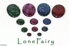 Dyed Abalone Shell Flat Back Cabochons Round Oval Jewellery Beads 4 6 8 10 mm
