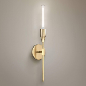 Mitzi by Hudson Valley Lighting Tara 1-Light Aged Brass Wall Sconce