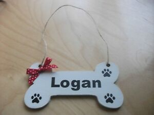 Personalised dog bone pet sign plaque gift