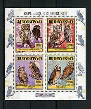 Owls Burundian Bird Postal Stamps
