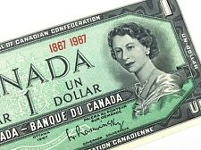 1967 Canada One 1 Dollar Centennial Canadian Uncirculated Banknote L918