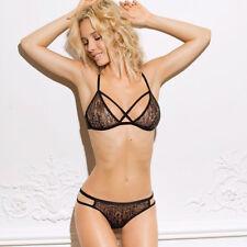 Womens Sexy Lingerie Lace Top Bra Ladies Thong Underwear Set Nightwear Sleepwear