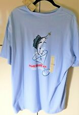 Caribbean Tee Shirt XL MartiniBay  Blue Graphic Design swordfish with olive NWT