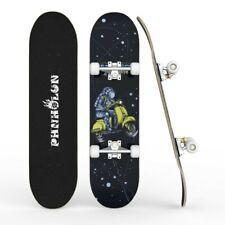 "Complete 31""x 8"" Skateboard for Beginner Complete Skateboard Space Deck for Gift"