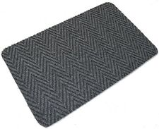 Grey Multi Directional Doormat Front Back Step Polypropylene Mat 80cm x 50cm