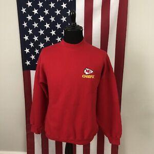 XL vintage 90s Kansas City Chiefs embroidered logo sweatshirt men's kc nfl E816P