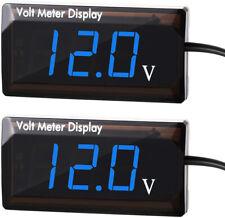 2x 12v Car Digital Voltmeter Gauge Led Display Meter For Car Motorcycle Blue Ah9