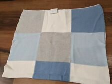 Next Blue striped Knitted Baby Blanket New with tags Rrp £19