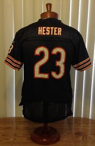 Devin Hester Chicago Bears Reebok Onfield Jersey Blue Screen Print Youth XL