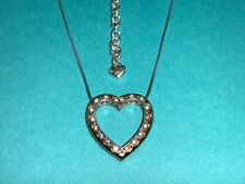 🌸 BRIGHTON 2 Tone Crystal Primevera Reversible Heart  Necklace  (N21)  NWT🌸