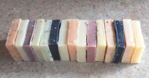 TRADITIONAL NATURAL HANDMADE SOAP 950g Medium Off Cuts 15 Bars Only £12.50!!!!!!