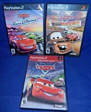 Lot of 3 PS2 Disney Pixar;Cars,Cars Mater-Nat Champ.,Cars Race-O-Rama, w/Mans,VG