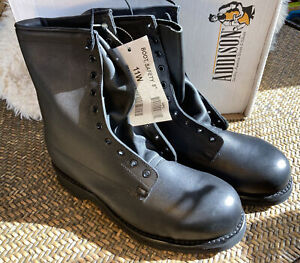 """Brand New in Box Men's ADDISON BLACK LEATHER SAFETY BOOTS 8"""" w/ Steel Toe NICE!!"""