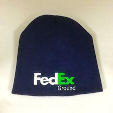FedEx Ground Beanie Decky Custom Embroidery Knit Navy Short