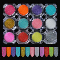 1Box Shiny Nail Art Glitter Powder Dust Chrome Pigment  Decoration