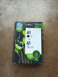 HP 61 2pack Combo Ink Cartridges Black and Color NEW Sealed August 2018 Exp Date