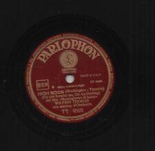 WILFRID THOMAS disco 78 giri HIGH NOON  dal film MEZZOGIORNO DI FUOCO