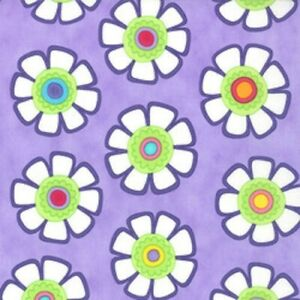 """Clearance ~ Good Morning ~ Moda ~ 16"""" remnant Mod Floral on Purple"""