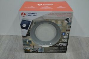 "Lithonia Bluetooth-Enabled Integrated Wireless Speaker Dimmable 13 Watt 6"" 4000K"