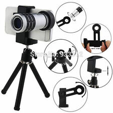 8X Zoom Universal Mobile Phone Telescope Camera Lens & Tripod+Adjustable Holder