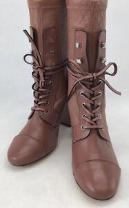 Stuart Weitzman Veruka Leather Combat Sock Boot Size8M R38