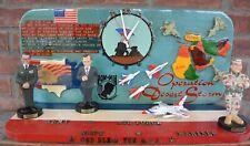 Vintage Operation Desert Storm Patriotic Naïve Folk Art Memorial Display