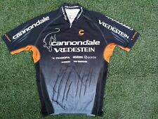 "Rare ~ Cannondale Vredestein Cycling Team Race Fit Bike Top Jersey ~ 42"" Chest"