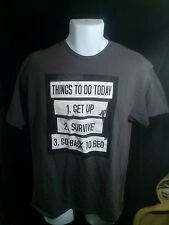 "Men's Ink ""Things to Do Today"" Gray graphic T-Shirt, Size L, EUC, 100% cotton"