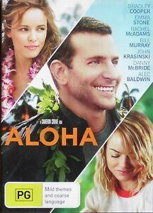 ALOHA  DVD Region 4 Bradley Cooper, Emma Stone, Bill Murray, Alec Baldwin (2726)