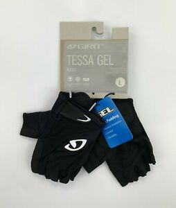 Giro Tessa Gel Women's Large Cycling Gloves Black / White New