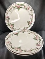 Vintage Shenango China Anchor Hocking Restaurantware Dinner Plates 3 Pink Floral