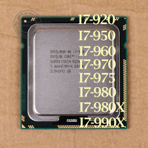 Intel Core i7-990X i7-980X i7-975 i7-970 i7-960 i7-950 LGA 1366 CPU Processor