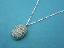 925 Sterling Silver Pendant With African Natural Green Amazonite  (nk1730)
