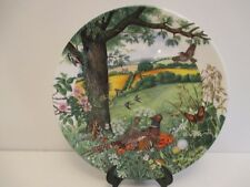 WEDGWOOD COLIN NEWMAN'S COUNTRY PANORAMA COLLECTOR PLATE - MEADOWS & WHEATFIELDS