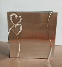 Wedding Guest Book - silver hearts- NEW