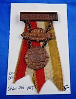 Spanish American War Veteran Color Bearer Nat. Auxiliary Medal Pin Badge Ribbon