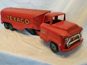 Vintage Texaco Tanker Truck Toy Truck Buddy L Pressed steel nice shape, eco ship